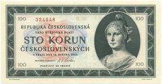 Bankovky a státovky (1945-1953) - Papírová platidla, bankovky Retro, European Countries, Personalized Items, Czech Republic, Coining, Nostalgia, Rustic, Bohemia