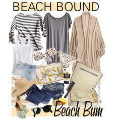 """""""BEACH BOUND"""" by cutandpaste on Polyvore"""
