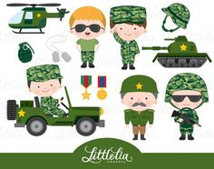 Cute Digital Clipart and DIY printable by LittleLiaGraphic Karate Boy, Army Basic Training, Colors For Toddlers, Army's Birthday, Army Party, Military Army, Clipart, Fun Projects, Things That Bounce