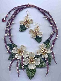 DogWood Pussy Willows Necklace & Earrings by Margo Fields - Dogwood - One of my favorite Spring things! - <3