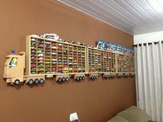 Hot Wheels and Matchbox Cars Wooden Truck Wall Display