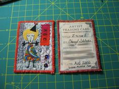 fabric artist trading cards