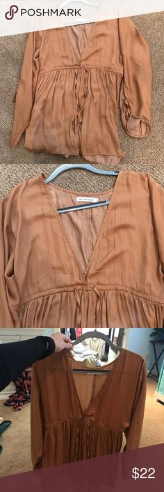 Carmel romper Carmel colored romper. Silk. Size extra small. Sabo Skirt Pants Jumpsuits & Rompers