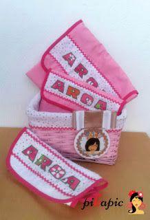 www.pikapic.es Canastilla personalizada para bebé Aroa.