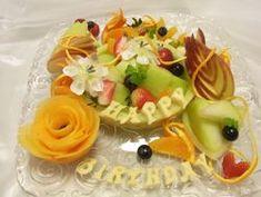 フルーツ作品集|カービングアトリエ・教室 Shiraki Fruit Salad, Waffles, Breakfast, Desserts, Food, Recipe, Breakfast Cafe, Tailgate Desserts, Deserts