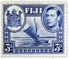 Fiji boat stamp