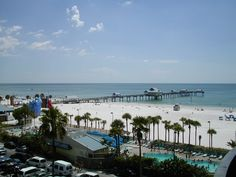 Photo taken from the balcony of our hotel of the beach and pier 60.