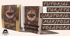 Mr WashiSan: Tutorial tarjeta giratoria mariposa voladora - spinner card