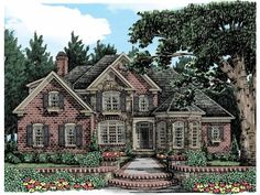 French Country House Plan with 3931 Square Feet and 4 Bedrooms(s) from Dream Home Source   House Plan Code DHSW53484