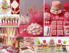 pink candy buffet - cute!