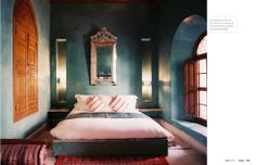Beautifully thought out...cozy, soothing, comfy...luxurious color.  Lonny August 2012 | Lonnymag.com