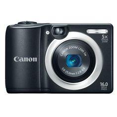 Canon PowerShot A1400 16 Megapixel Digital Camera - Black $95.57