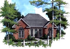 HPG-1251-1-The Westcreek is a 1442 sq. ft./ 3 bedroom/ 2 bath house plan that you can purchase for $670.00 and view online at http://www.houseplangallery.com/HPG-1251-1.