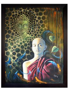Original Hand Painting/Acrylic Specifications: Material:Canvas; Length is 36 inches ; Height is 48 inches; The Painting will be shipped in roll form