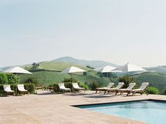 Pool Deck at the Auberge Ostapé, Basque Country, France. Photo by Vanessa Jackman