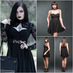 Sexy Mini Dress With Chestpart Made Of Lace! 😍 #shamorg #gothicstyle