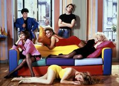 Pedro Almodovar and the cast of Talons aiguilles / Tacones Lejanos (Pedro Almodovar, 1991)
