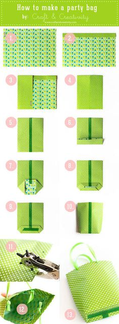 Make your own party bags -  DIY Party bags
