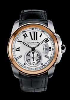 Cartier Calibre 42mm in steel and pink gold