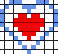 Legend Of Zelda Heart Container Perler Bead Pattern Sprite Charlie Ferney Minecraft Pixel Art