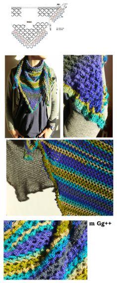 Châle réalisé au crochet n°3 (d'aprés le diagramme : http://crochet-plaisir.over-blog.com/3-categorie-12310582.html) par m Gg++