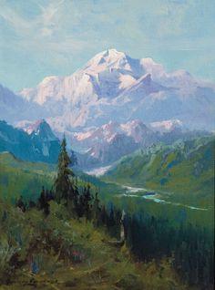 """Mount McKinley from Martha Park"" Sydney Laurence. A.J. Kollar Fine Paintings"