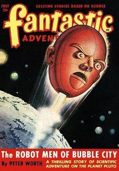 Vintage Sci Fi Poster The Robot Men Of Bubble City