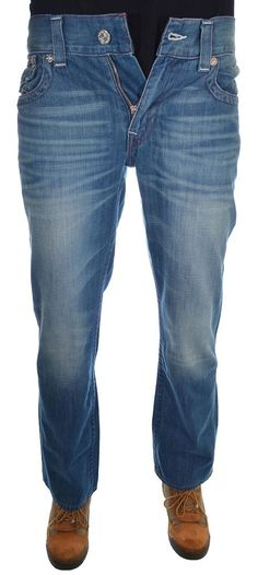True Religion Men's Flap Pocket Straight Jeans Size 34 in Dragonfish NWT #TrueReligion #ClassicStraightLeg