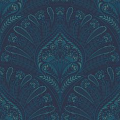 Scallops in Blue by Petroula Tsipitori Seamless Repeat Vector Royalty-Free Stock Pattern