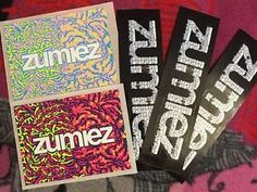 Set Of 5 Skate Zumiez Logo Thrasher Skateboard Stickers Decals
