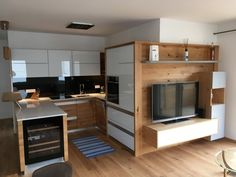 Verbindung von Küche und Wohnraum Corner Desk, Furniture, Home Decor, Homemade Home Decor, Corner Table, Home Furnishings, Decoration Home, Arredamento, Interior Decorating