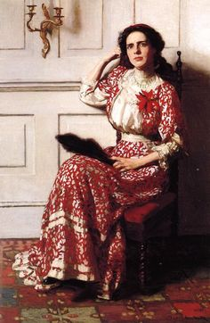 Portrait of Rebecca H. Whelan by Thomas Pollock Anshutz (October 5, 1851 – June 16, 1912). Thomas Pollock Anshutz was an American painter and teacher. Co-founder of The Darby School and leader at the Pennsylvania Academy of Fine Arts.