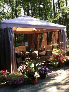10x10 Gazebo Canopy Tent Garden Patio Umbrella Frame