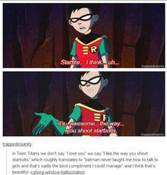 Lawl, I just enjoy the comment below. Go Batman.