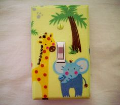 Safari Animals Light Switch Cover Giraffe by cathyscraftycovers, $12.00