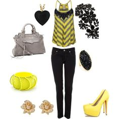 black and yellow,