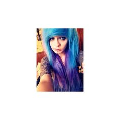 Emo/ Scene hair ❤ liked on Polyvore featuring beauty products, haircare, hair, colored hair and hairstyles