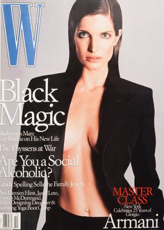 <em>W</em> Magazine's Supermodel Cover Girls - Stephanie Seymour on the cover of W Magazine October 2000
