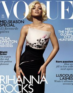 Rihanna covers the November issue of British Vogue