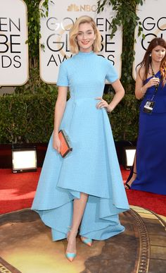 """Literally the only """"short in the front long in the back"""" or """"mullet"""" dress I approved of from the Golden Globes the other night. Beautiful!"""