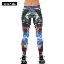 NEW 091 Sexy Girl Leggins The Avengers Captain America Flash Prints Elastic High Waist Workout Fitness Women Leggings Pants Women's Sports Leggings, Legging Sport, Sports Trousers, Workout Leggings, Workout Pants, Waist Workout, Mode Des Leggings, Leggings Are Not Pants, Women's Leggings