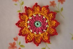 Note: This listing you will receive 1 pc of flower appliques.    This flower applique can be used for crochet project, sew on to bag, hat,