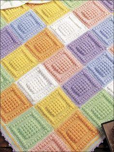 Bobble stitch crochet blanket