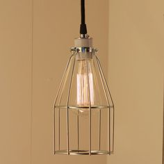 Industrial Lighting with NewOld Stock wire cage by lucentlampworks, $102.00