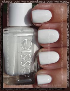 essie Blanc - will be wearing this polish on my trip to FL in a couple weeks!