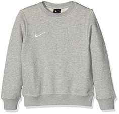 Nike Pull à manches longues pour Enfant Mixte - Gris (Gris Heather/Blanc) - L- 69-72,5 cms