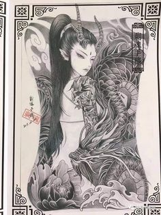 Small Japanese Tattoo, Japanese Tattoo Meanings, Japanese Tattoo Designs, Japanese Sleeve Tattoos, Female Samurai Tattoo, Grey Ink Tattoos, Crow Tattoos, Phoenix Tattoos, Ear Tattoos