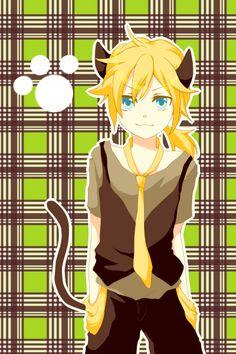 💕💕 Kagamine Len - Ah, it's a wonderful cat life 💕💕 Len Y Rin, Vocaloid Len, Kagamine Rin And Len, Anime Neko, Anime Guys, Manga Anime, Anime Art, Servant Of Evil, Neko Boy