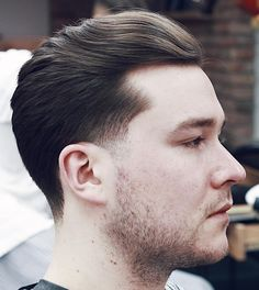 Natural Flow Slick Back Businessman Hairstyles