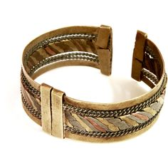 Mens CUFF Bracelet Handmade rustic masculine Jewelry, Mixed Metal... ($42) ❤ liked on Polyvore featuring men's fashion, men's jewelry and mens watches jewelry